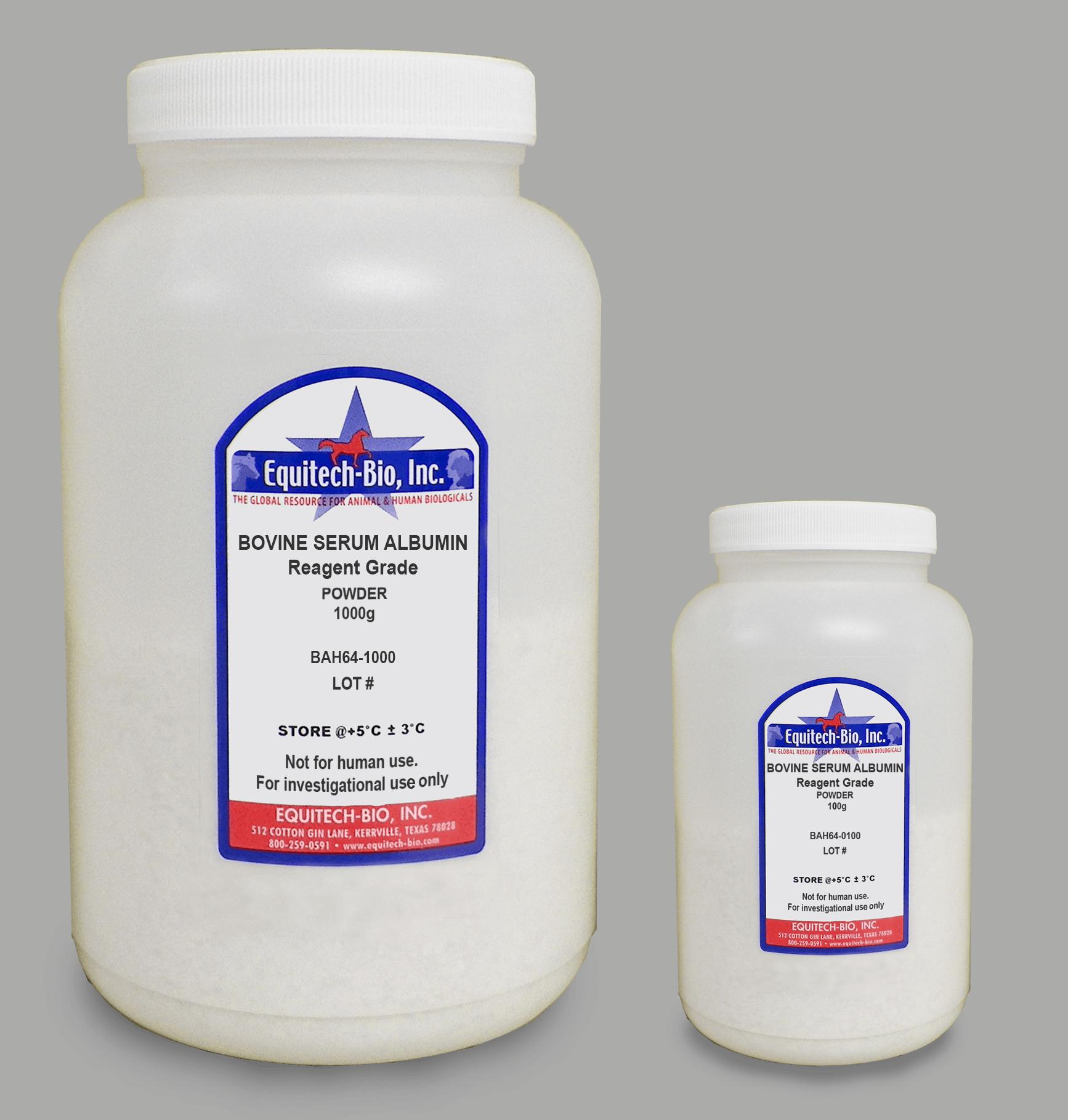 BAH64 -- Reagent Grade Heat Shock Bovine Serum Albumin Powder