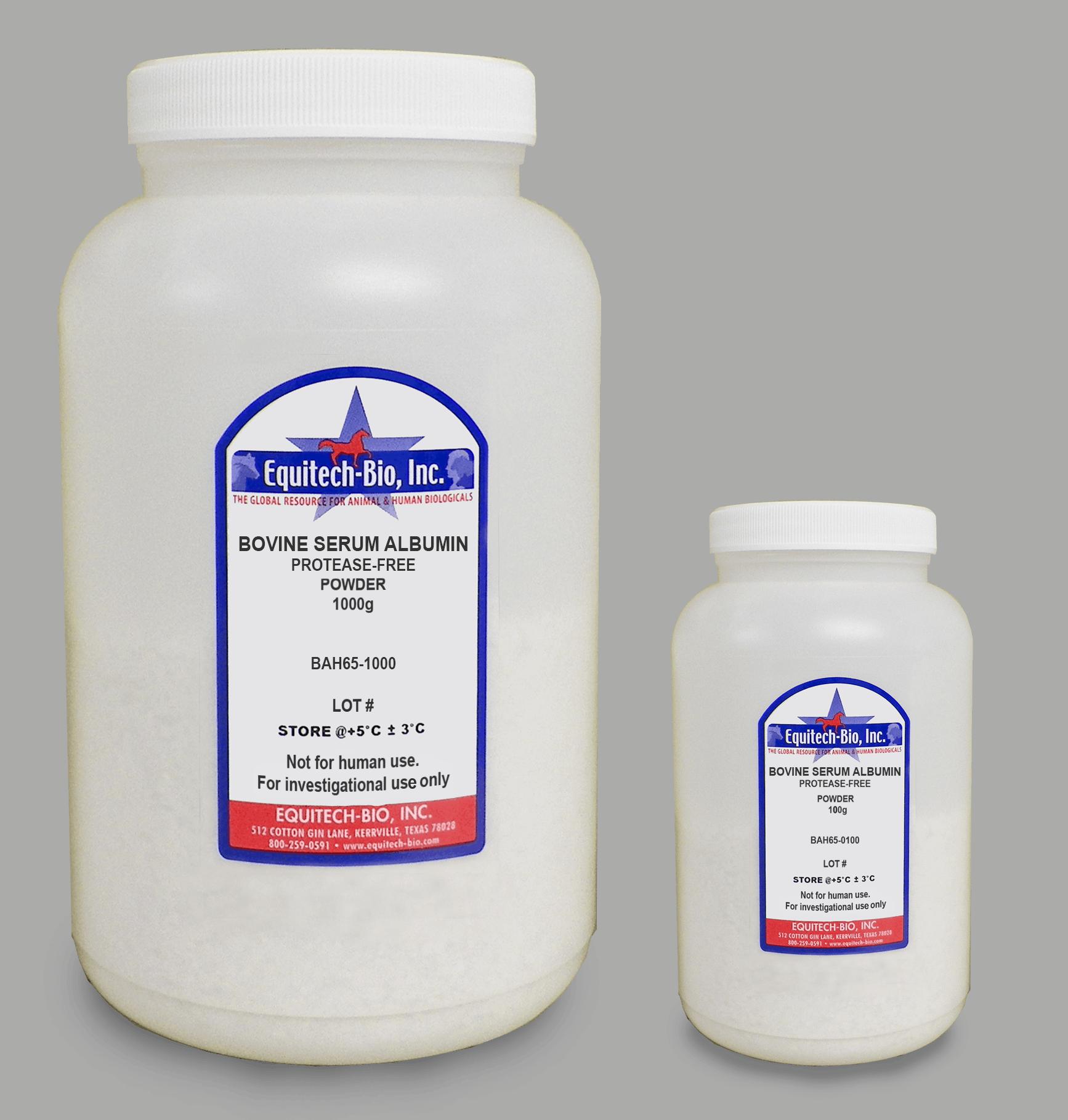 BAH65 -- Protease Free Heat Shock Bovine Serum Albumin Powder