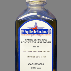 CASHW05 -- Non-Sterile Canine Serum Positive for Heartworm
