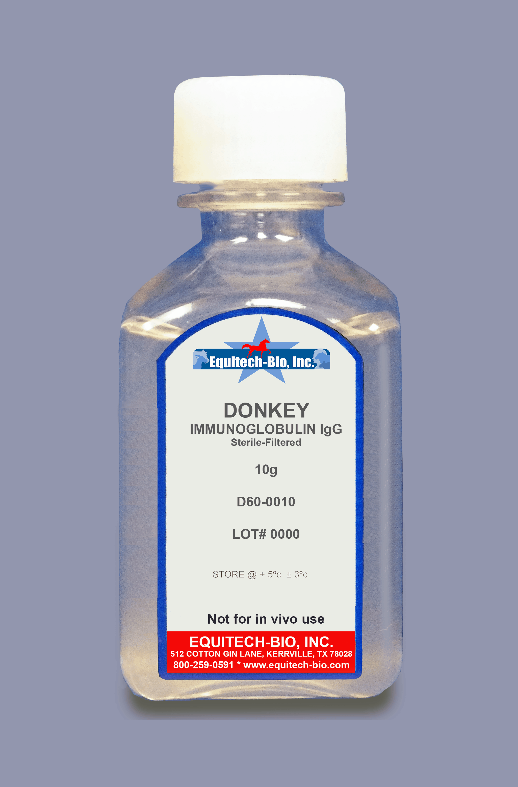 D60 -- Donkey IgG Solution >= 97% Purity