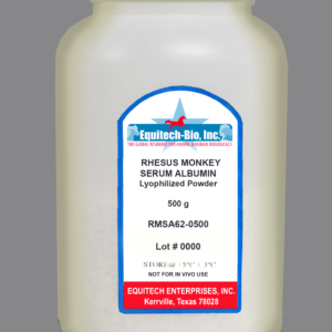RMSA62 -- Rhesus Monkey Serum Albumin Lyophilized Powder