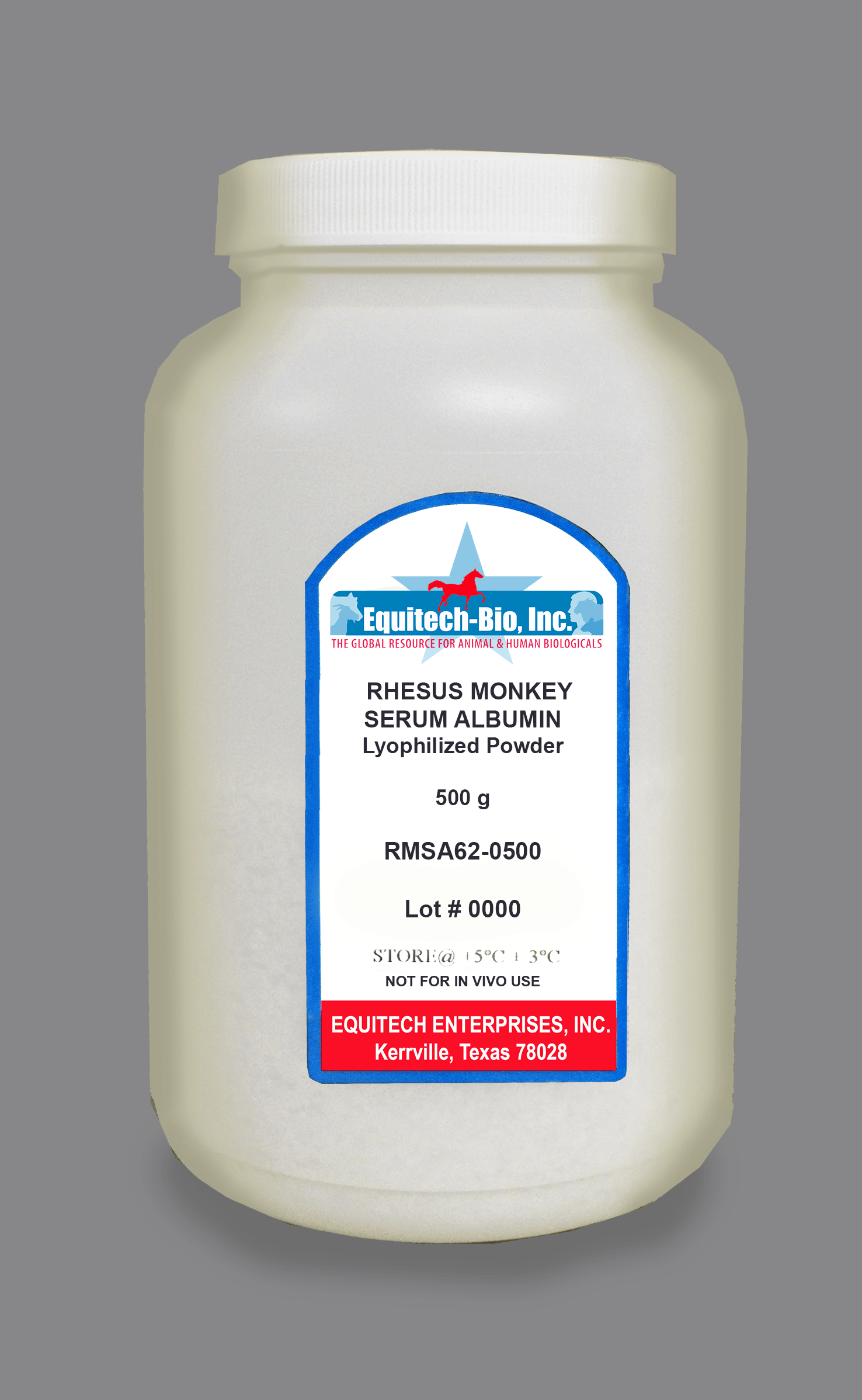 RMSA62 -- Rhesus Monkey Serum Albumin Lyophilized Powder