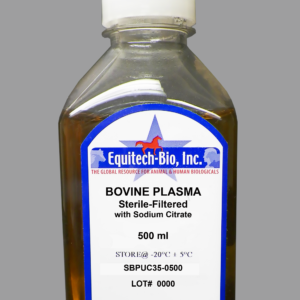 SBPUC35 -- Sterile Filtered Bovine Plasma with Sodium Citrate