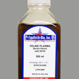 SFPE35 -- Sterile Filtered Feline Plasma with EDTA