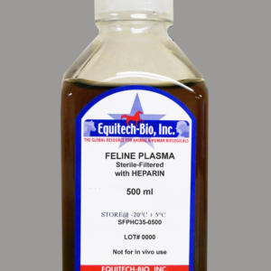 SFPH35 -- Sterile Filtered Feline Plasma with Heparin
