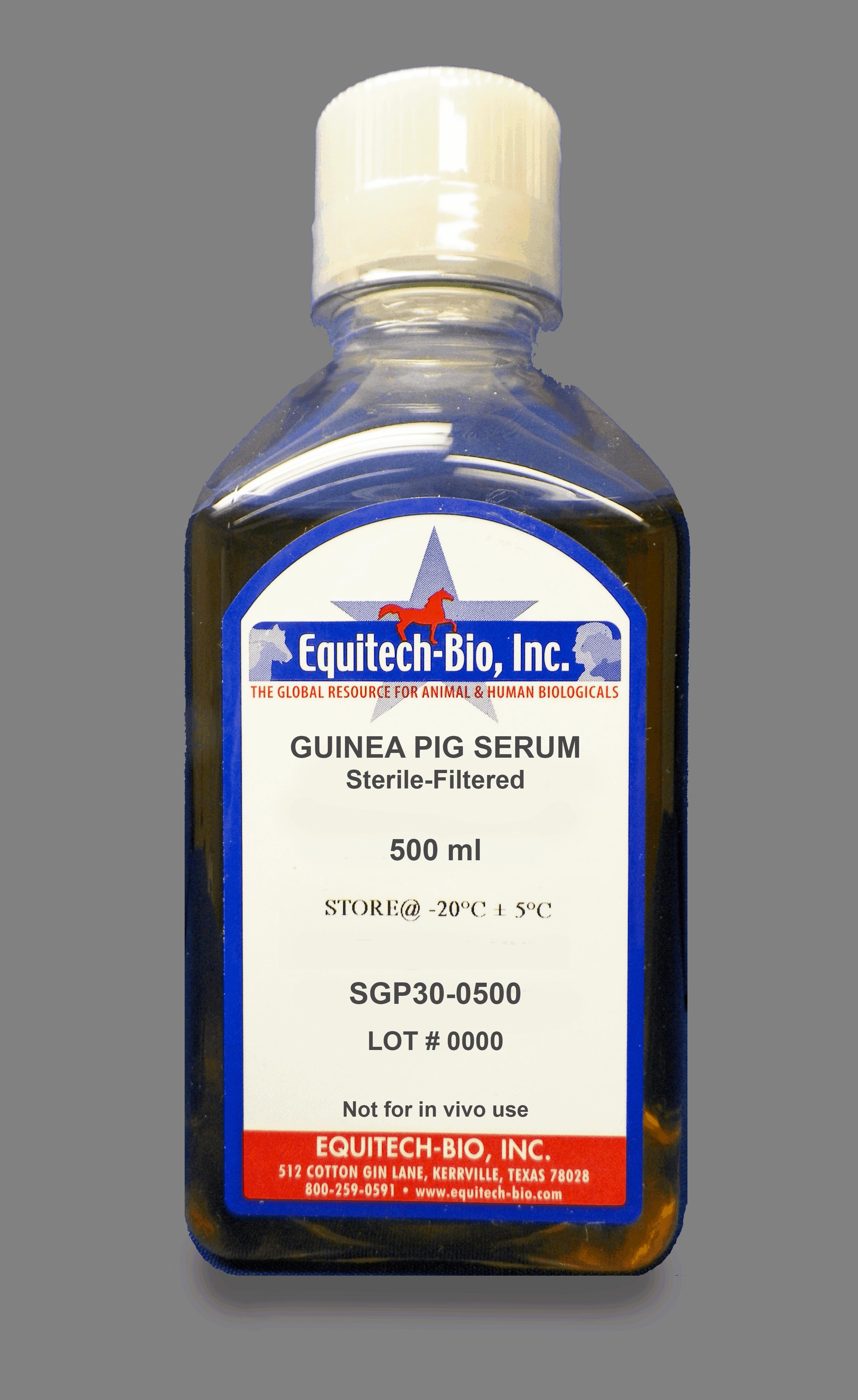 SGP30 -- Sterile Filtered Guinea Pig Serum