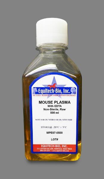 MPE07 -- Non-Sterile Mouse Plasma with EDTA