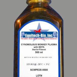 SCMPE35 -- Sterile Filtered Cynomolgus Monkey Plasma with EDTA