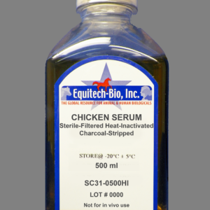SC31 -- Sterile Filtered Chicken Serum Charcoal Stripped